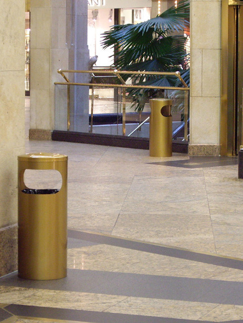 SN-150 Litter Bins in special colour antique brass