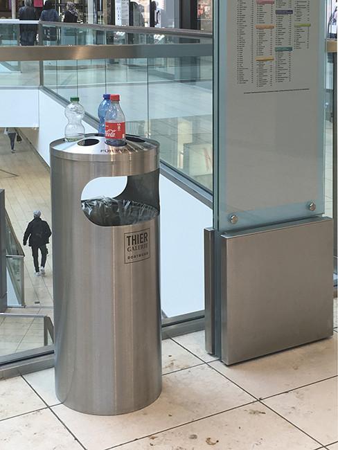 SN-150 Abfallbehälter mit Aufsatz für Pfandflaschensammlung