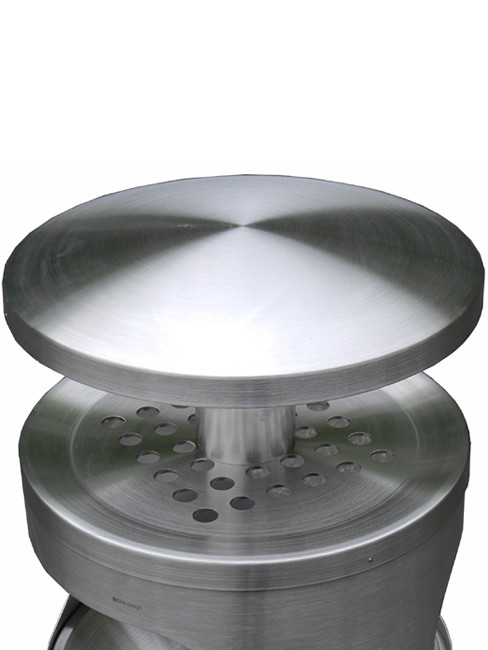 perforated ashtray top with rain cover