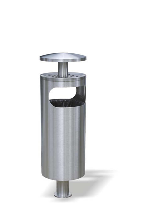 SN-181 Smoker Stand and Litter Bin with rain cover