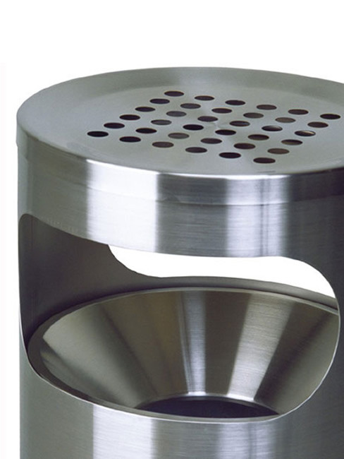 optional funnel top inside and perforated top cover