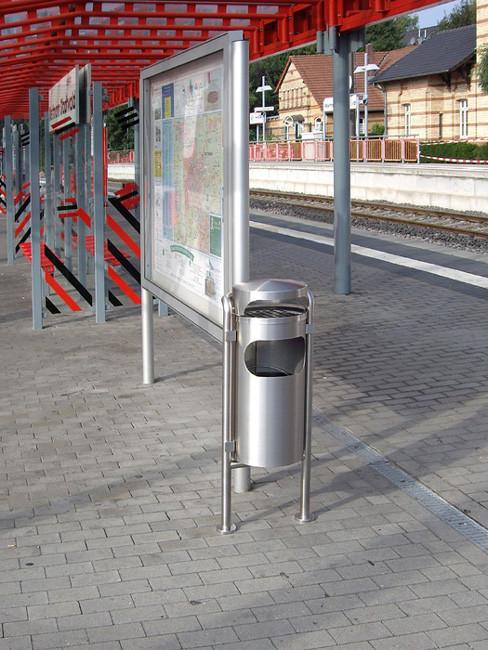 aufgedübelter SN-201 Ascher und Abfallbehälter für Aussen