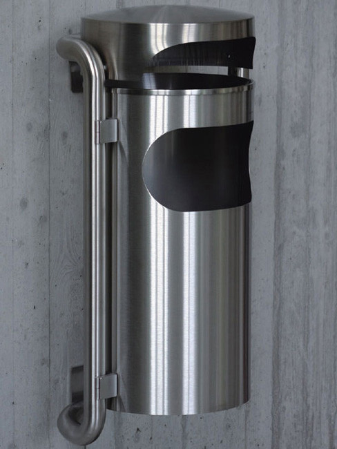 SN-210 Ashtray with Litter Bin for outdoors and wall mounting