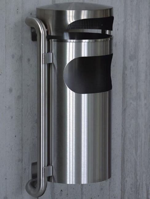 SN-210 Ascher und Abfallbehälter für Aussen zur Wandmontage