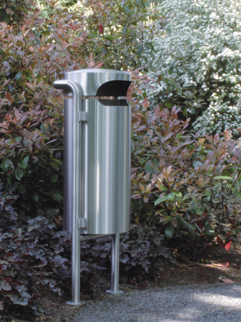 SN-220 Abfallbehälter für Aussen zum Aufdübeln oder Fundamentieren