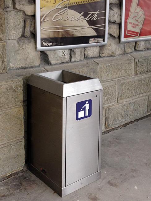 SN-271 Abfallbehälter aus Edelstahl