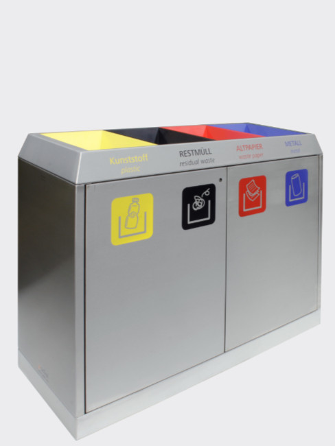 SN-274 Litter Separation Unit with 4 sections made of stainless steel
