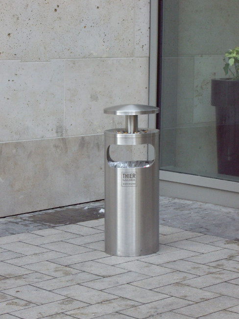 SN-141 Smoker Stand and Litter Bin with rain cover and acid print on the body