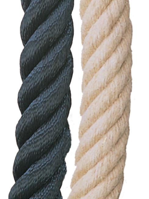 Twisted Rope in dark blue and hemp
