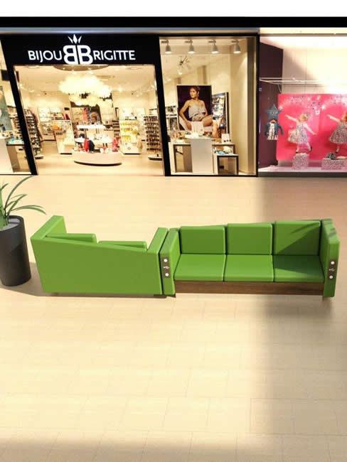 LEGATO Sofabank als 3-Sitzer mit USB Lademodul