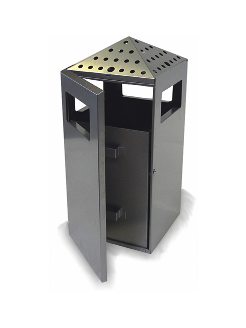 PYRO large capacity smoker stand litter bin combination
