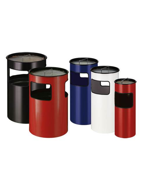 Smoker Stand and Litter Bin Combination STRATUS with 110 liters capacity