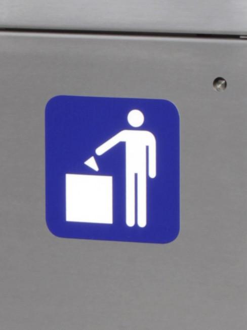 Aufkleber Piktogramm Abfall