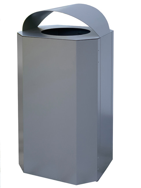 SN-350 and SN-351Large Capacity Outdoor Litter Bin made of stainless or powder coated steel