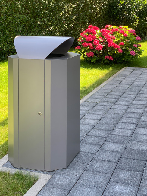 Large Capacity Outdoor Litter Bin made of powder coated steel SN-350 and SN-351